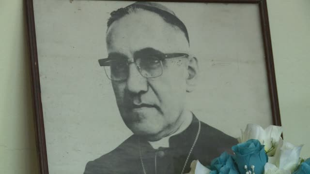 controversial salvadoran archbishop oscar romero a champion of the poor who was gunned down while celebrating mass in 1980 was beatified on may 23... - archbishop stock videos & royalty-free footage