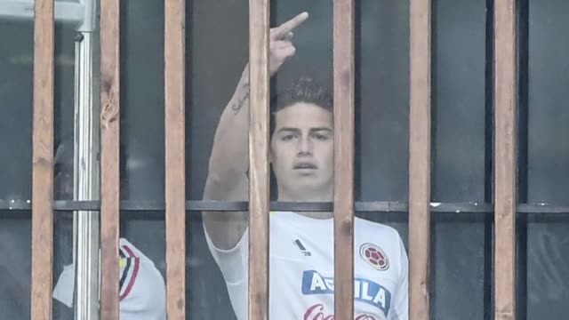 controversy engulfed real madrid star james rodriguez in his native colombia on monday after he was photographed making an obscene gesture to... - obscene gesture stock videos and b-roll footage