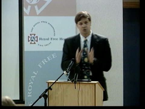 wakefield credibility questioned lib wakefield at podium giving lecture - mmr stock videos and b-roll footage