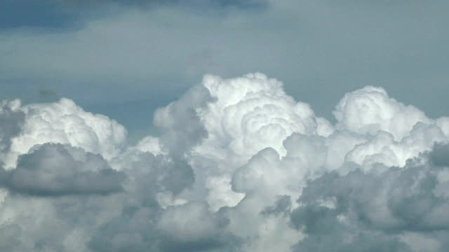 convection in cumulus clouds, timelapse - mittag stock-videos und b-roll-filmmaterial