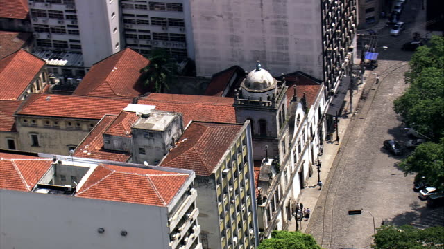 convent of our lady of mount carmel  - aerial view - são paulo,brazil - convent stock videos & royalty-free footage