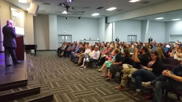 conversation with rafael cruz campaign event in fresno. video of rafael cruz speaking onstage and afterwards with ted cruz supporters. - preacher stock videos & royalty-free footage