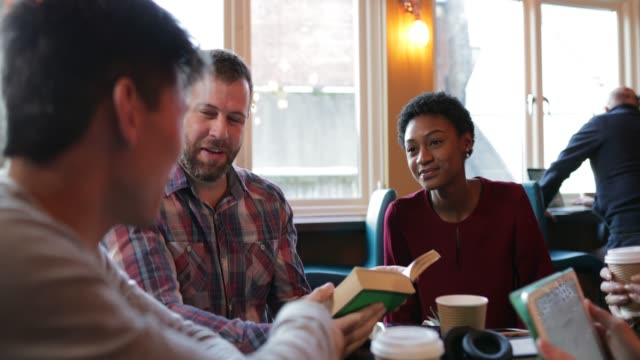 conversations during book club - casual clothing stock videos & royalty-free footage