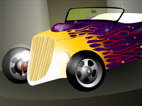 Convertible car at an exhibition