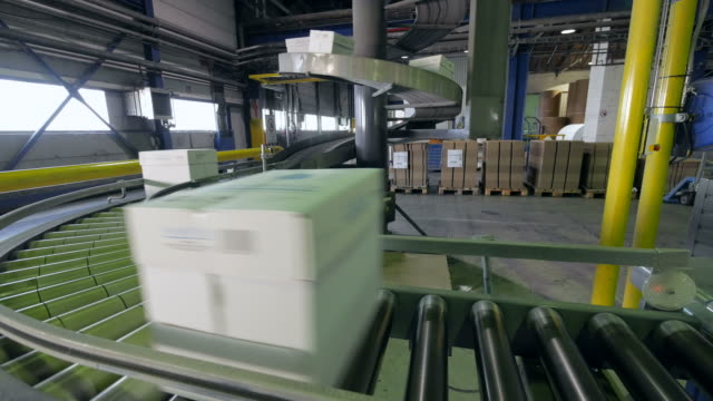 conveyor belt at paper mill, germany - paper mill stock videos and b-roll footage