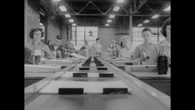 1960 conveyor belt carries census maps at the geography division of the census bureau - census stock videos & royalty-free footage