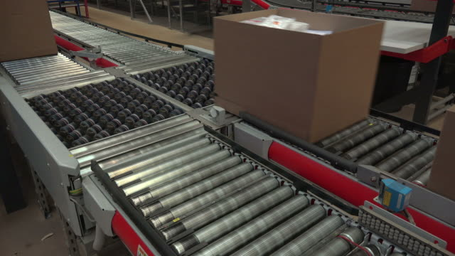 conveyor belt system at warehouse