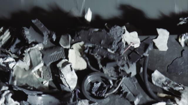 conveyor belt transporting scrap metal - metal stock videos & royalty-free footage
