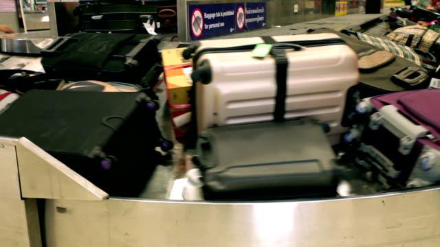 conveyor belt - luggage stock videos & royalty-free footage