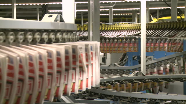 MS Conveyor belts at newspaper print office / Frankfurt, Hesse, Germany