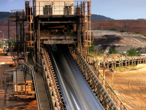 pal: conveyor - surface mine stock videos and b-roll footage