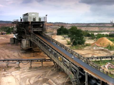 ntsc: conveyor - surface mine stock videos and b-roll footage