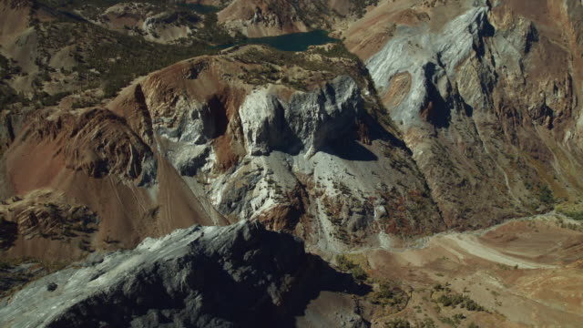 convict creek in the john muir wilderness area, sierra nevadas, california, aerial view. - wilderness area stock videos & royalty-free footage