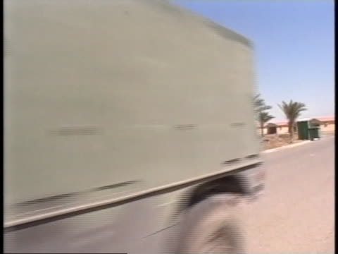 convoy moves out. - al fallujah stock videos & royalty-free footage