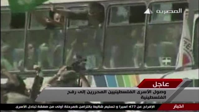 convoy of palestinian prisoners released from israeli prisons arrived at the rafah border crossing on tuesday rafah egypt - prisoner released stock videos & royalty-free footage