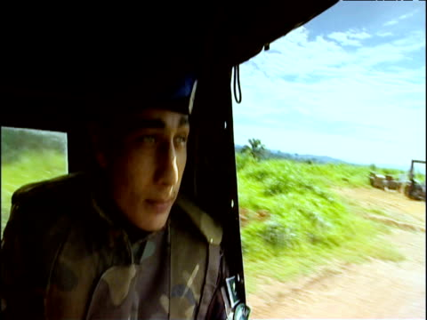 UN convoy travels through countryside eastern Democratic Republic of Congo