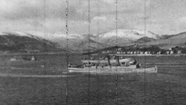 1944 montage convoys of cargo ships sailing in and around scottish ports / scotland, united kingdom - grainy stock videos & royalty-free footage