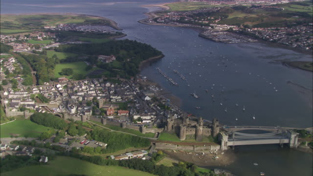 conwy castle - river stock videos & royalty-free footage