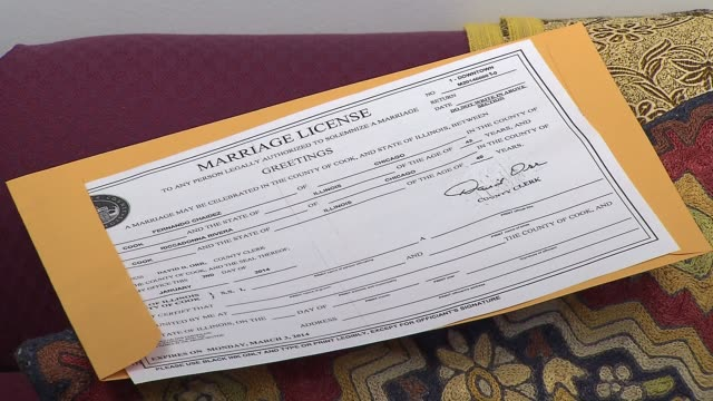 Marriage License Videos and B-Roll Footage   Getty Images