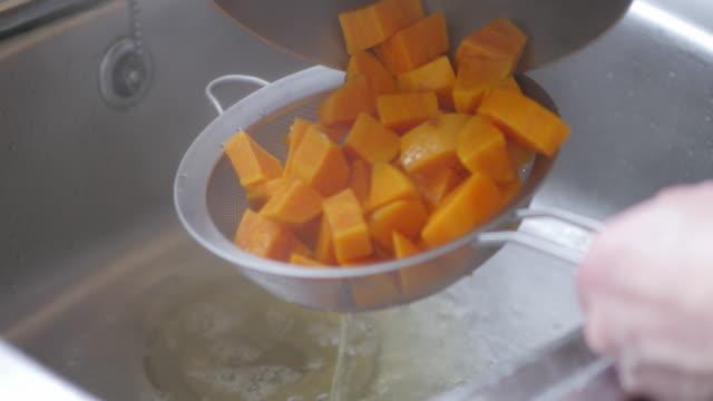 cooked sweet potato - sweet potato stock videos & royalty-free footage