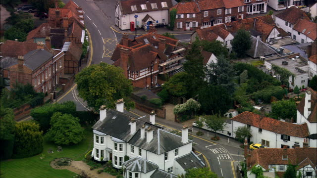 cookham  - aerial view - england, windsor and maidenhead, cookham, united kingdom - berkshire england stock videos & royalty-free footage