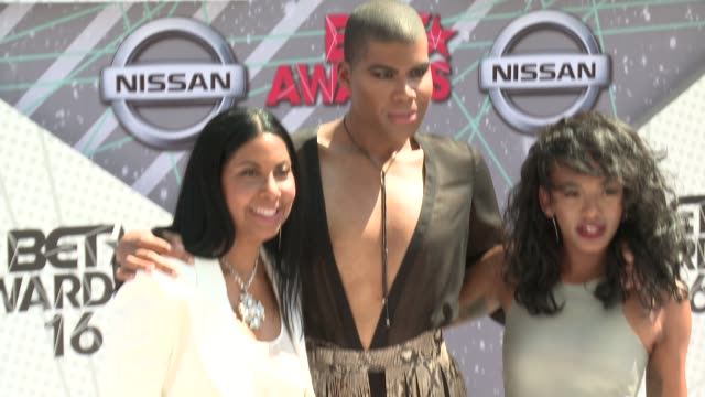 Cookie Johnson EJ Johnson Elisa Johnson at 2016 BET Awards in Los Angeles CA