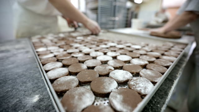 cookie making small business - caterer stock videos and b-roll footage