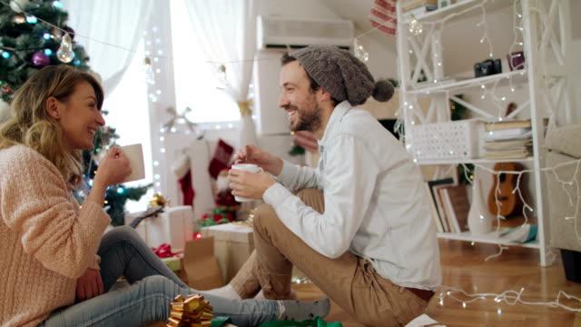 Cookies and tea on Christmas morning 4K
