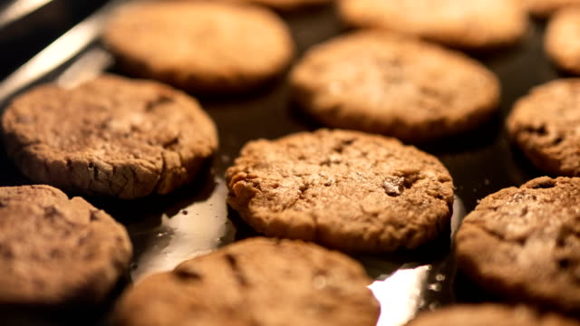 cookies in the oven time lapse - biscuit stock videos & royalty-free footage