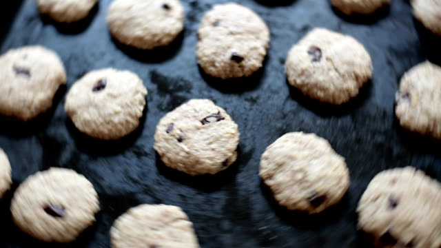 cookies on a baking tray - baking tray stock videos & royalty-free footage