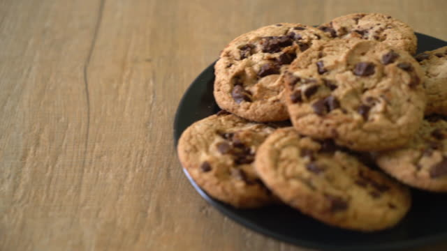 cookies with dark chocolate chips - cookie stock videos and b-roll footage