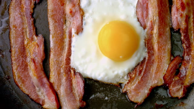 Cooking Bacon and Eggs
