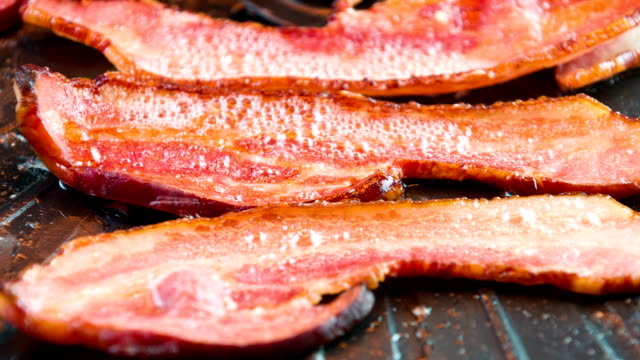 cooking bacon in oven - bacon stock videos and b-roll footage