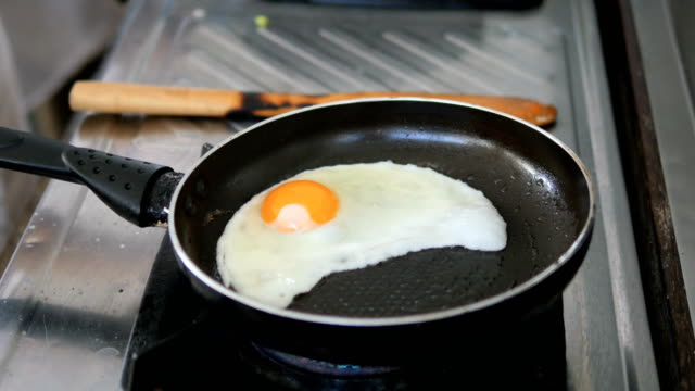 Cooking Egg for Breakfast