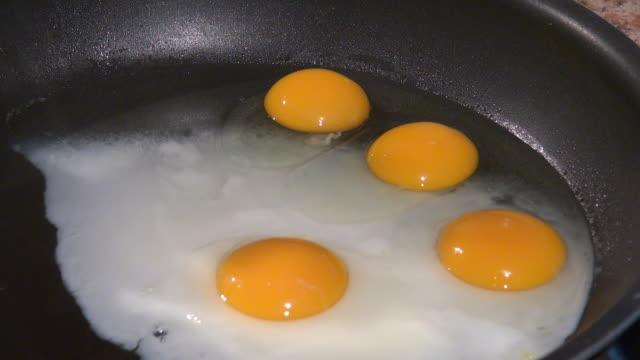 vídeos y material grabado en eventos de stock de cooking eggs - huevos fritos de un solo lado