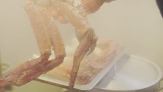 ms cooking king crabs - fishing industry stock videos & royalty-free footage