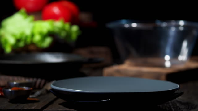 Cooking low key background