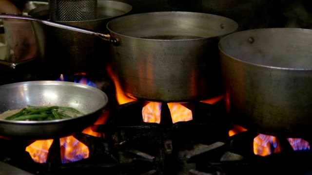 Cooking Pan, Flame and Stove