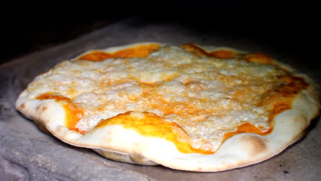 cooking pizza - hearth oven stock videos & royalty-free footage