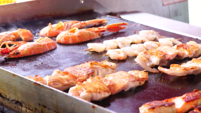 cooking seafood 4k - seafood stock videos & royalty-free footage
