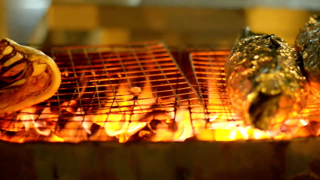 cooking seafood barbecue