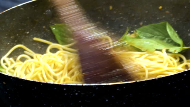 cooking spaghetti - noodles stock videos & royalty-free footage
