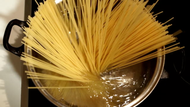 cooking spaghetti,close up-super slow motion - italian culture stock videos & royalty-free footage