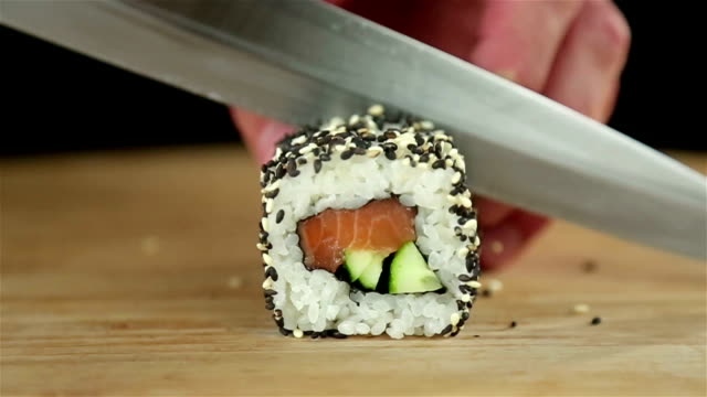cucina sushi - sushi video stock e b–roll