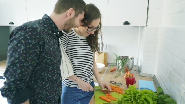 cooking together at home. - preparing food stock videos & royalty-free footage
