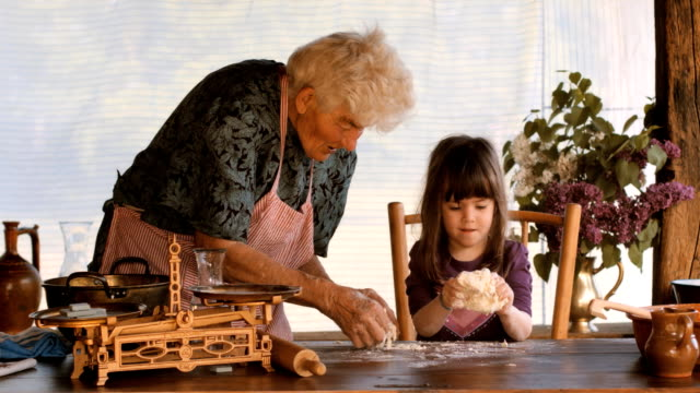 HD SEQUENCE. Cooking With Grandma. Part of a series