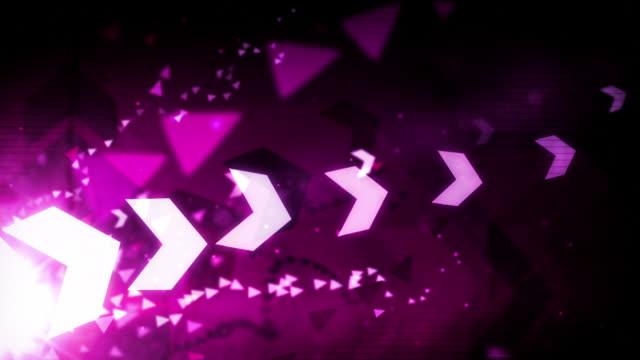 Cool Arrows Background Loop - Pink (Full HD)
