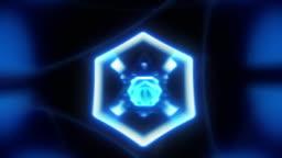 cool blue neon warp [loop]