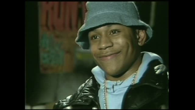 ll cool j 1st interview in 1985 on video music box - cool box stock videos and b-roll footage
