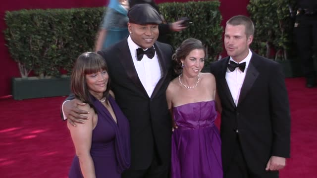 ll cool j and chris o'donnell at the 61st annual primetime emmy awards arrivals part 3 at los angeles ca - ll cool j stock videos and b-roll footage